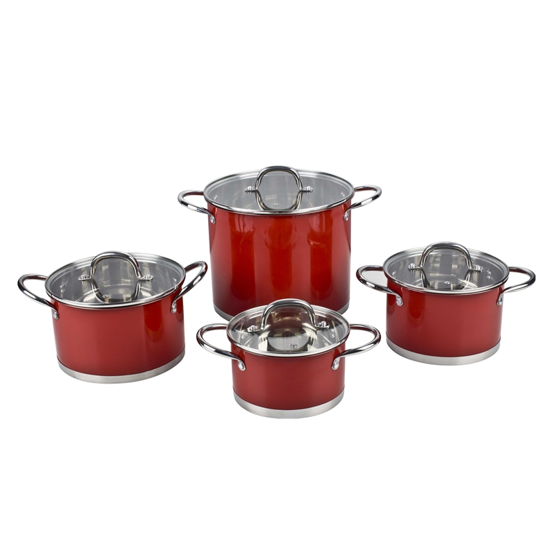 stainless steel cookware set casserole frypan saucepan for kitchen