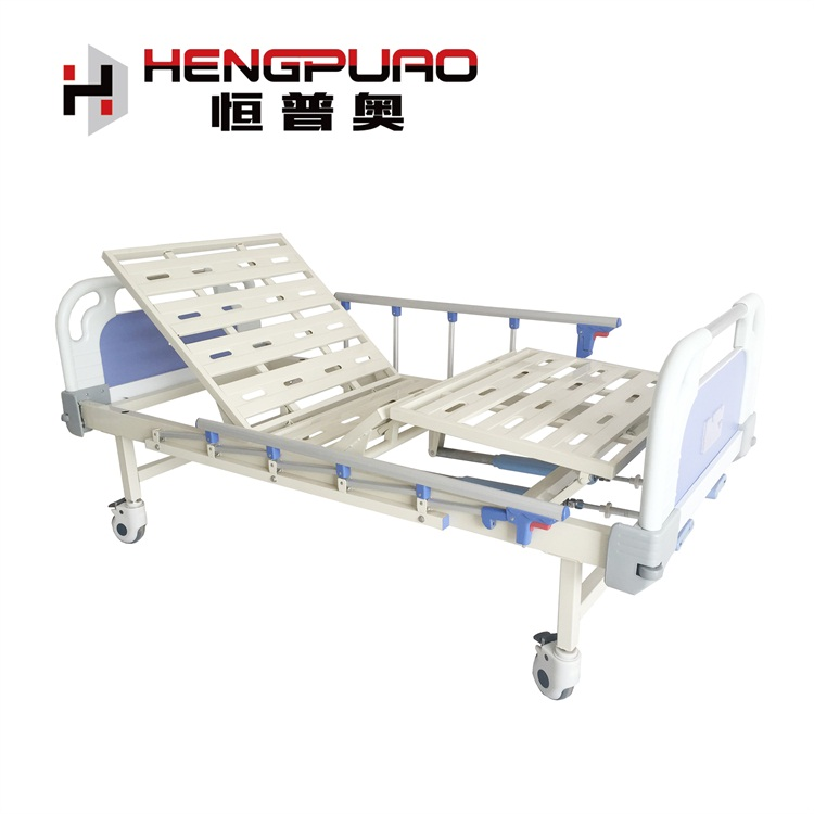 manufacturer 2 cranks care cheap price manual hospital bed with wheel