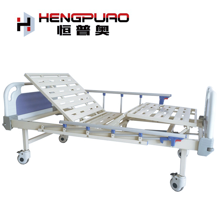 durable medical equipment manual two cranks hospital patient bed with factory price