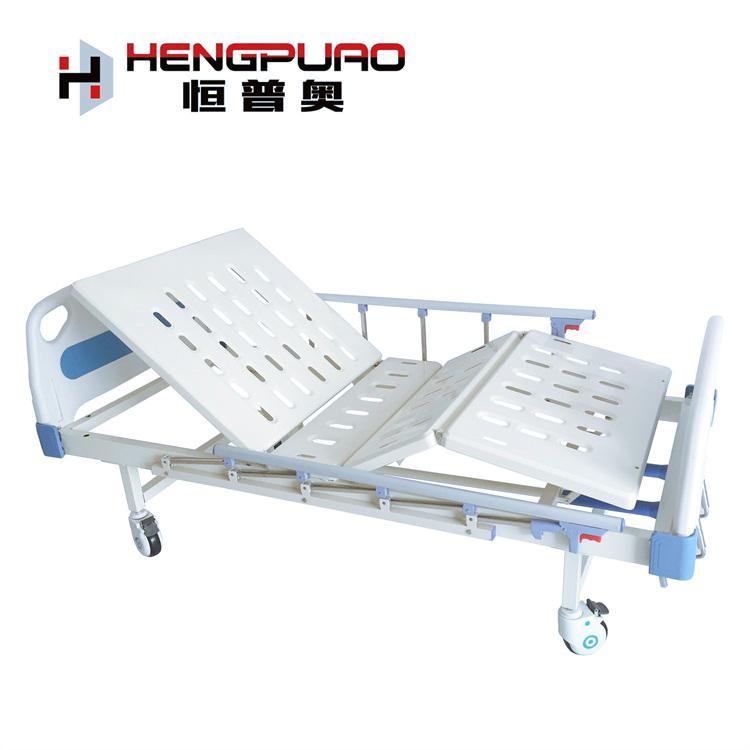 patient full size manual adjustable two cranks medical hospital bed for sale