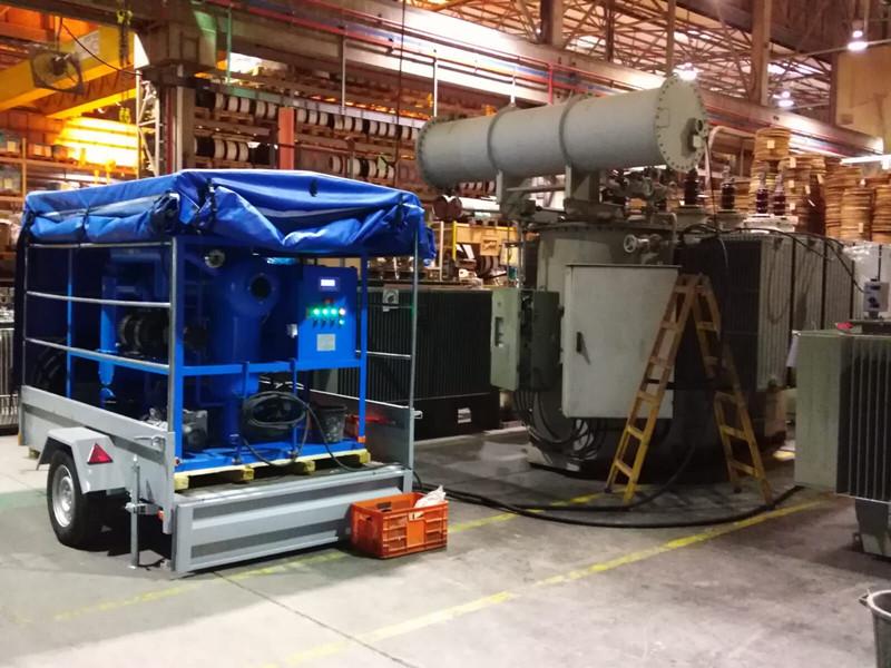 6000 LitersH Double Stage Vacuum Transformer Oil Purifier