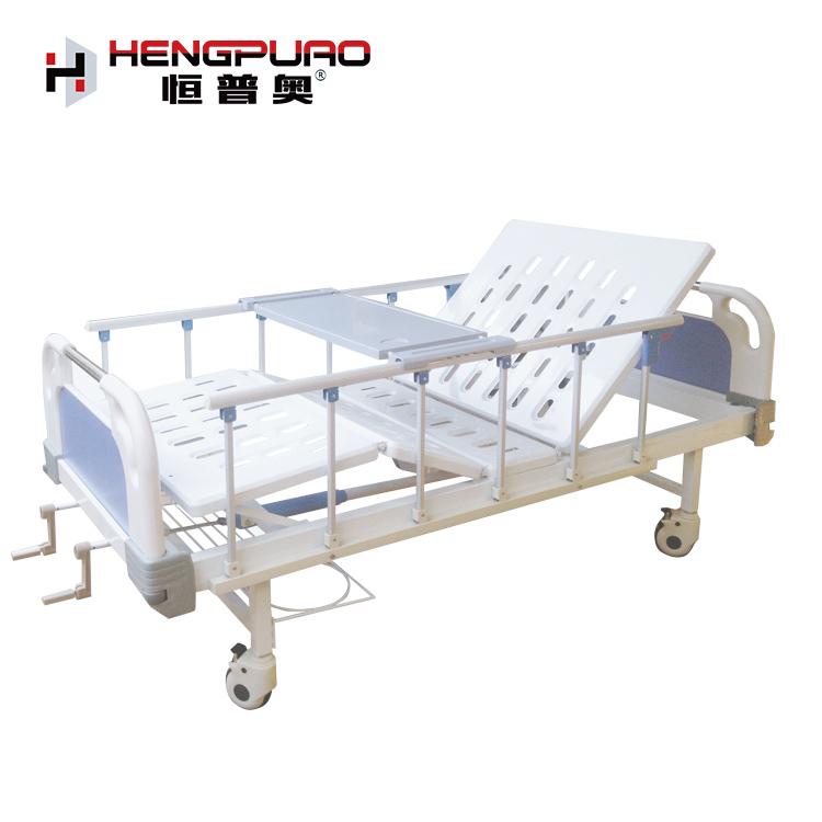 medical furniture reclining standard 2 cranks manual hospital beds for sale price