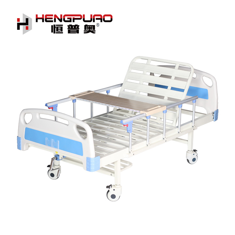 medical equipment simple standard size care home disabled hospital bed with rails