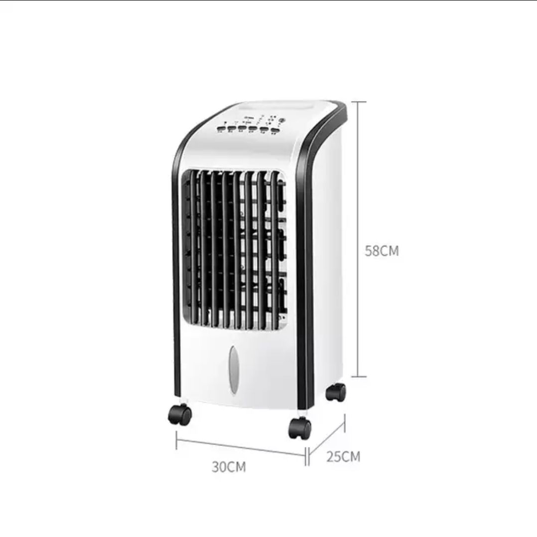 Energysaving silent air conditioning with portable air conditioning fan in summer
