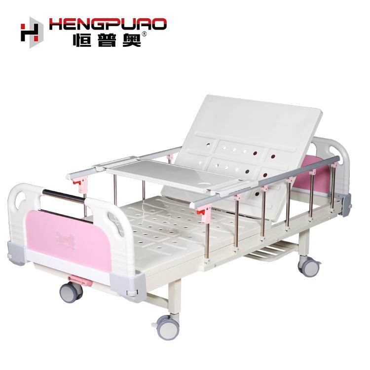 medicare hospital equipment medical furniture manual single crank patient bed for elderly