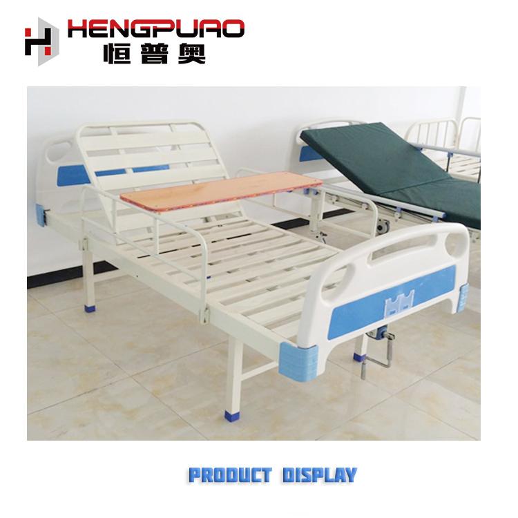 cheap medical care manual adjustable standard size hospital bed for elderly