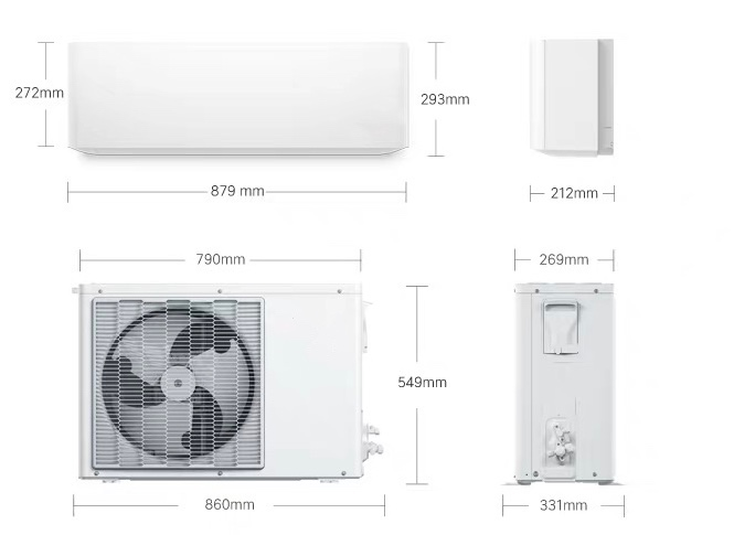 Inverter Smart Arc Cooling Heating Intelligent WallMounted Bedroom Air Conditione
