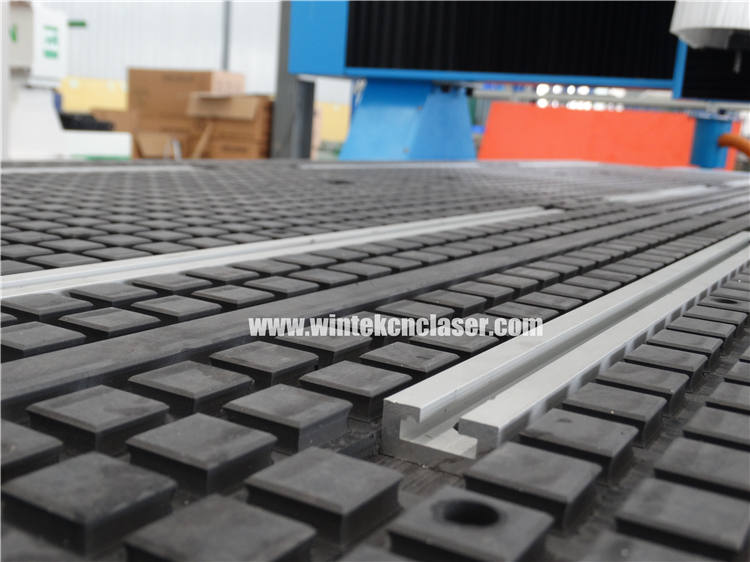 Vacuum + T-slot table with big thickness PVC