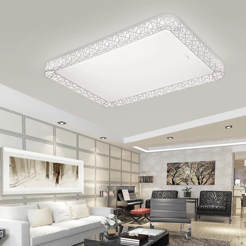 Led ceiling light with room atmosphere square household bedroom light simple and modern