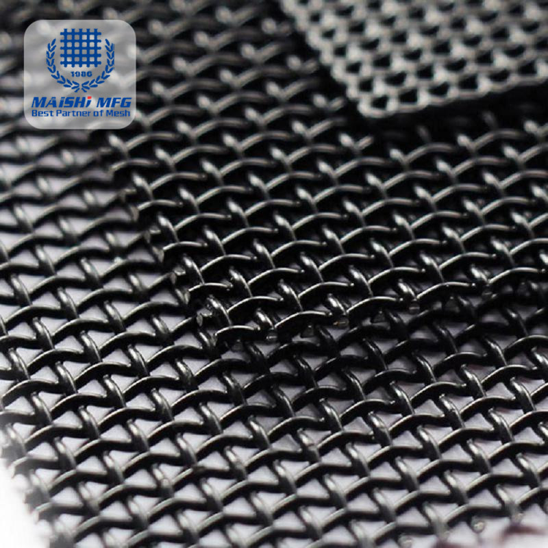 Highstrength pure black Security screen mesh
