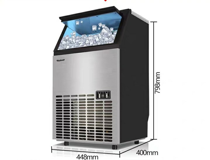 Large Icemaker in Commercial Milk Tea Shop Icemaker Fully Automatic Household Ice Making Machine