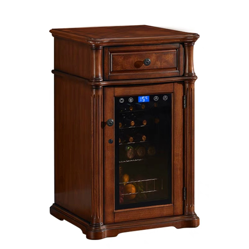 Solid Wood Living Room Refrigerator Wine Red Wine Small Red Wine Cabinet Refrigerated Cigar Cabinet Household tea