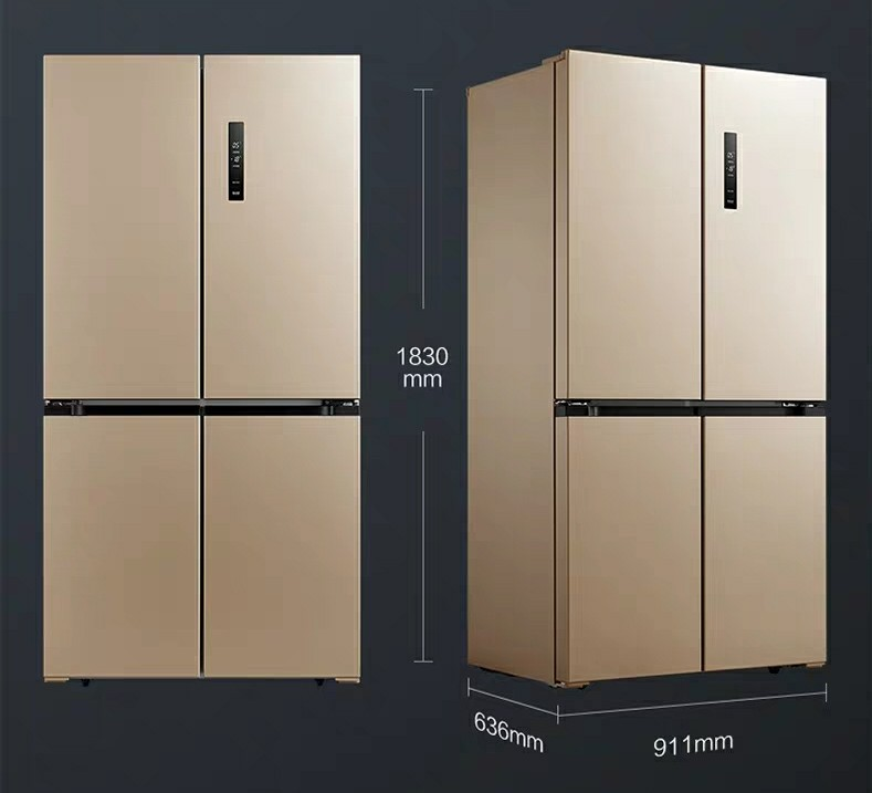 Energy Conservation of FourDoor Household Refrigerator with Cross Opposite Door UltraThin Frequency Conversion Air