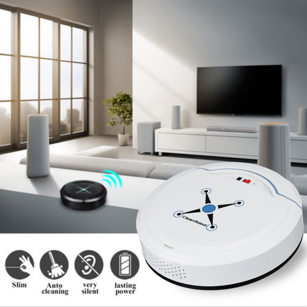hot sale Rechargeable Automatic Cleaning Robot Smart Sweeping Robot Vacuum Floor Dirt Dust Hair Cleaner Home Sweeping Ma