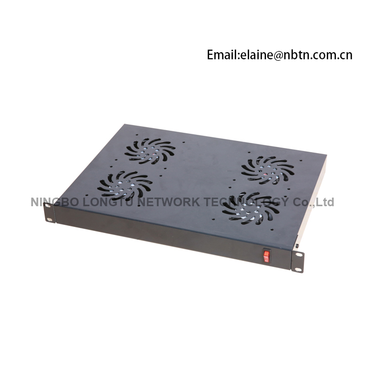 1U Fan Unit for Sever Cabinet with 4 Fans for Rack