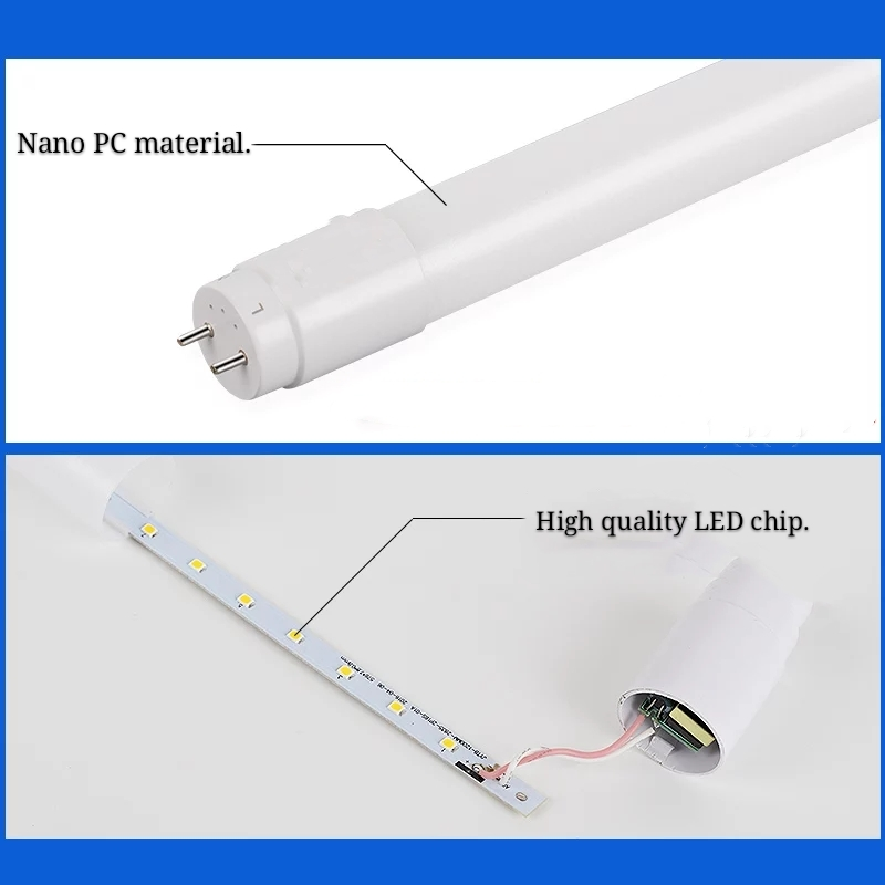 LED lamp T8 bracket full set of household 12m light tube strip energysaving daylight lamp