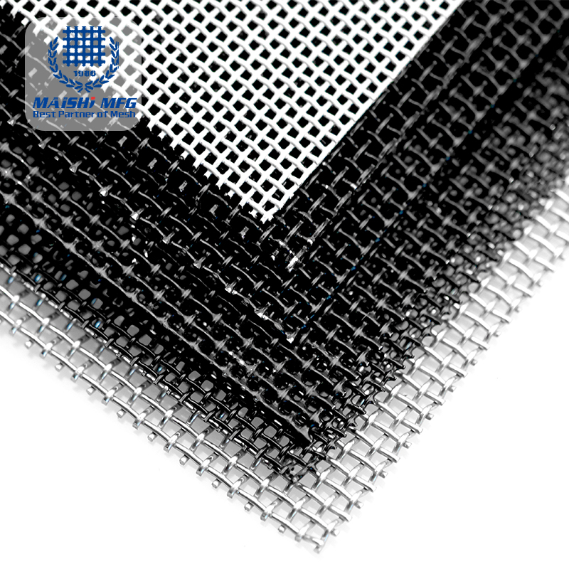 09mm Black powder coated 316 stainless steel security screens