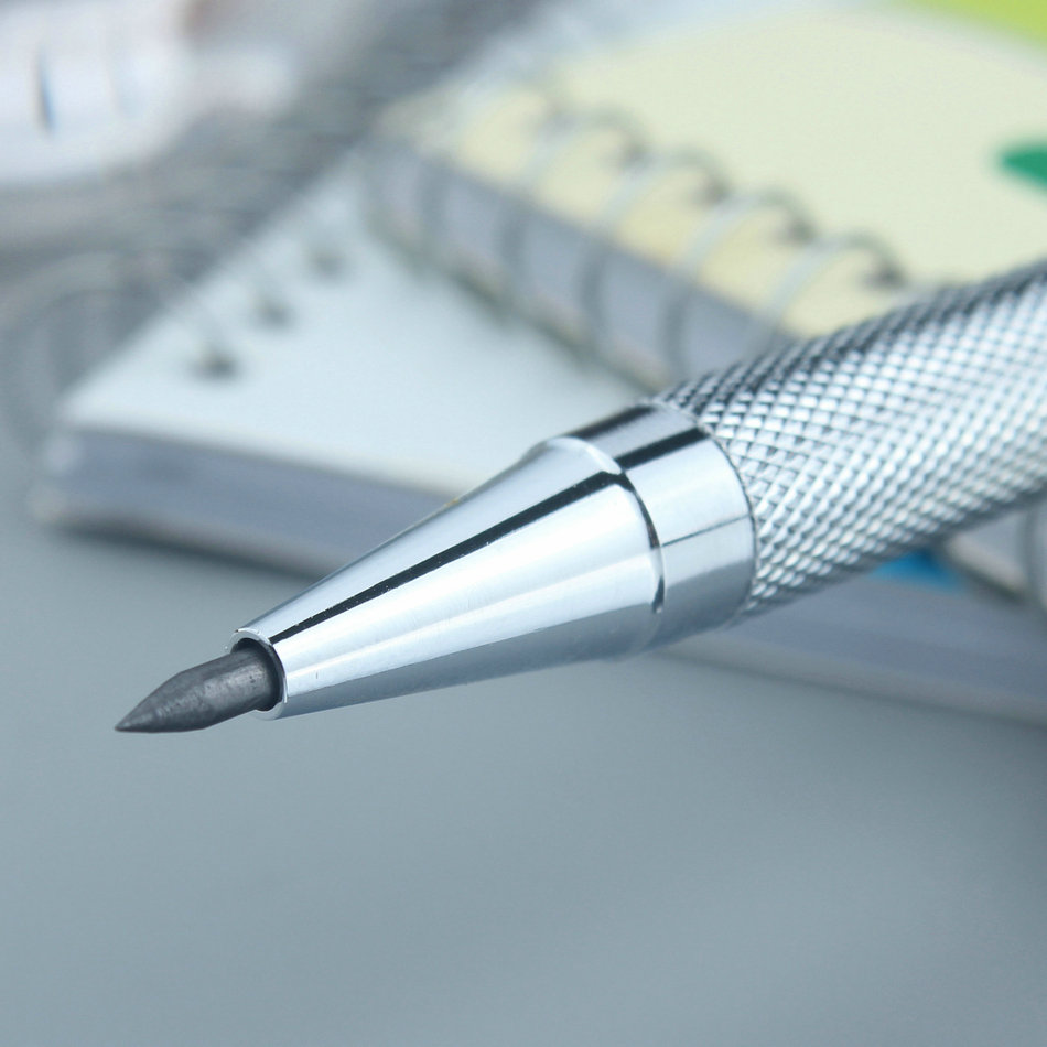 Drawing all metal penholder AntiSlip automatic pencil animation low center of gravity