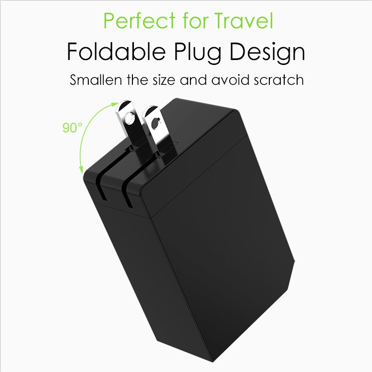 Multiport USB Charger 54A Power Adapter Mobile Phone Accessory Travel Charger with Foldable Plug