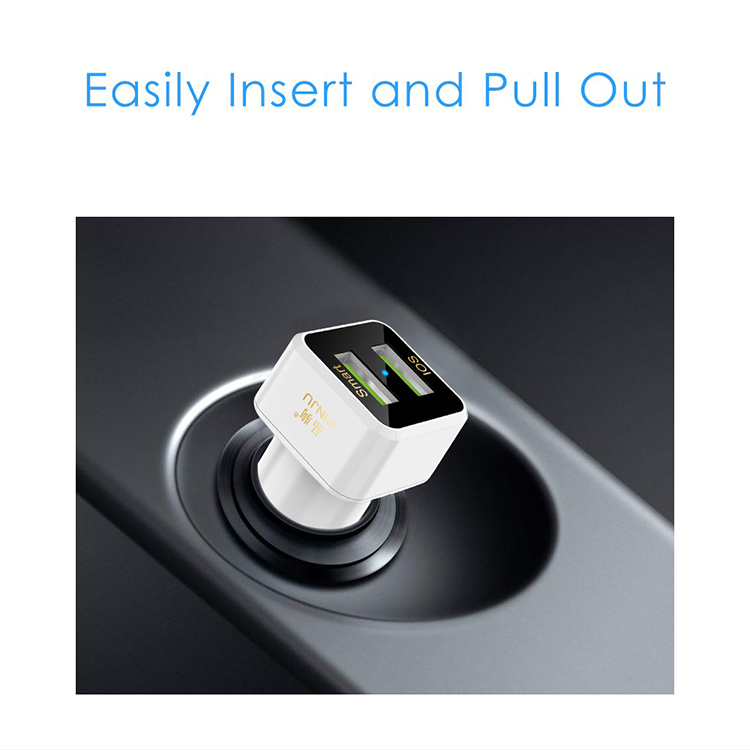 31A Dual USB Car Charger Auto Charger Cell Phone Accessory Smart Car Adapter