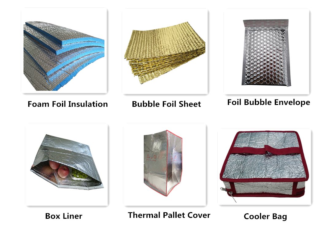 Custom Size Aluminum Foil EPEXPE Foam Thermal Insulation Rool for Construction Material