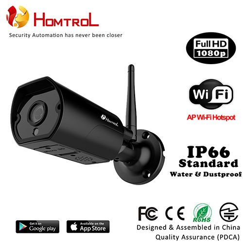 IP66 WiFi Smart Home Outdoor WiFi CCTV Camera 1080P IP Camera with Duplex Talk and External SD Card Slot