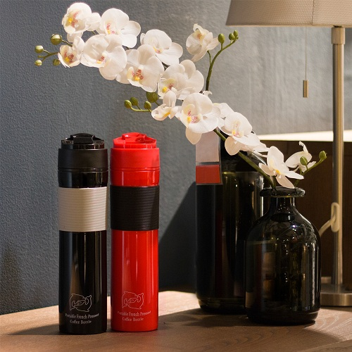 Travel coffee brewer french press k cup coffee mug tea maker pp water bottle