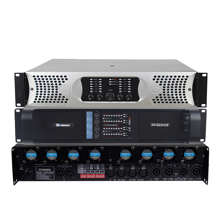 2019 New Amplifier 4650W4CH Professional Power Amplifier Fp22000q 3600UF Capacitor for 21 Inch dj Subwoofer