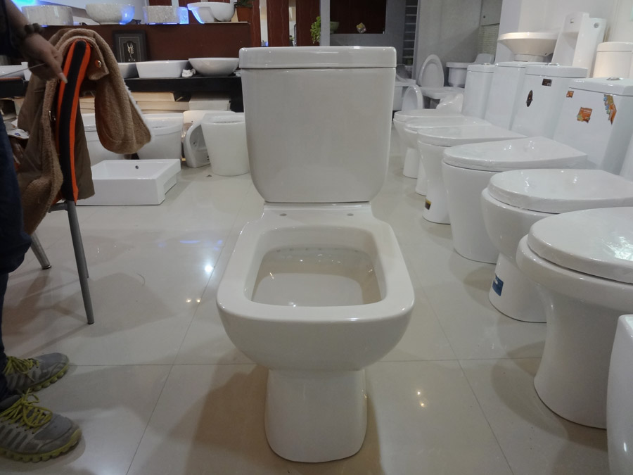 Cheap Elongated Siphonic STrap Floor Mounted Two Piece Ceramic Toilet for American Standard Toilet in China