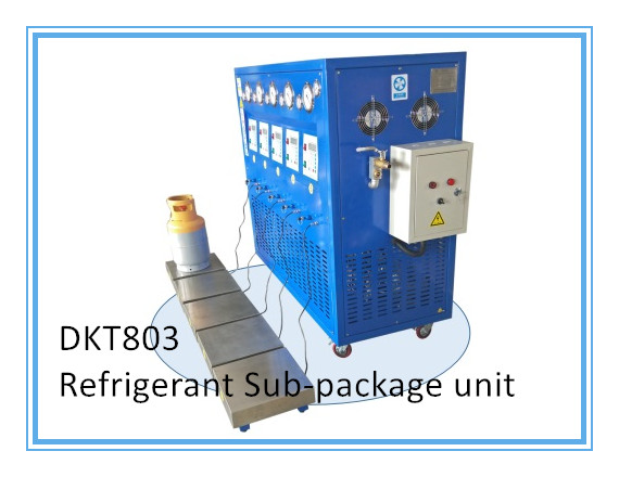 DKT803 3HP Refrigerant SubPackage Recovery Recharge Machine