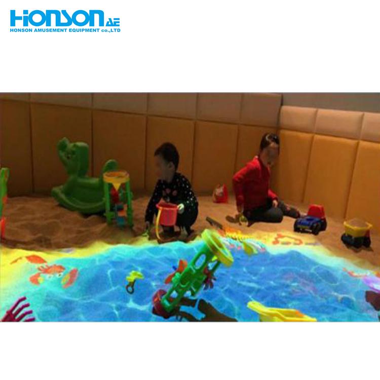 2019 Projector Magical Interactive pleasure beach floor Projection interactive games