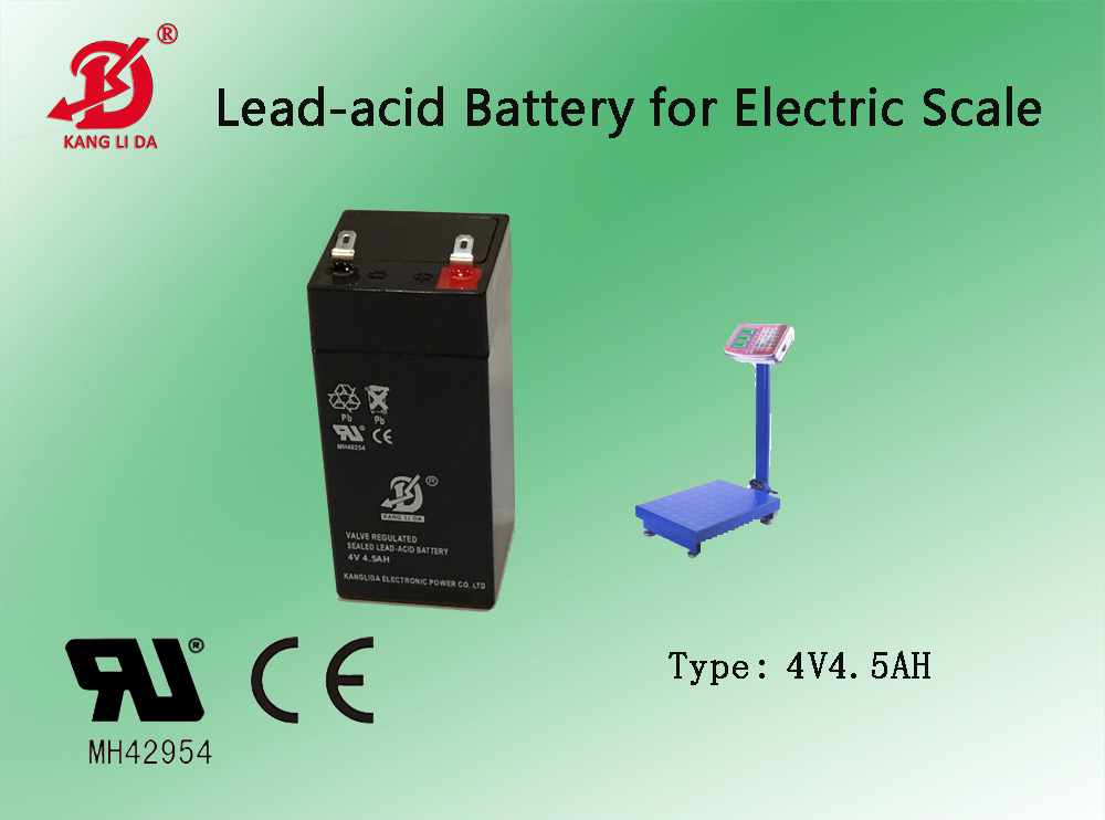 Playerelectric scale 4v45ah kanglida lead acid battery