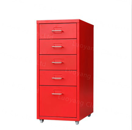 Metal Home Storage Cabinet Five Drawers