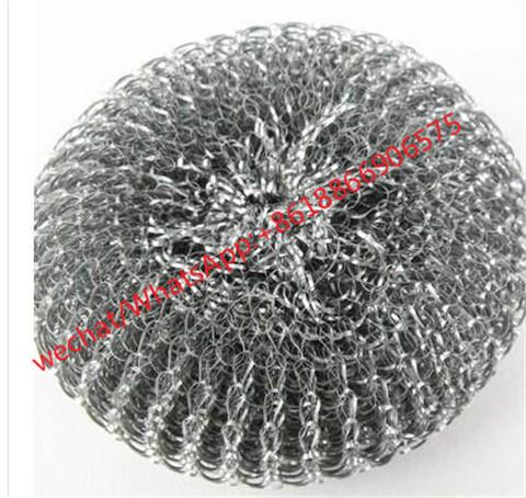 Hotselling Kitchen pot gavernized stainless steel mesh scourer