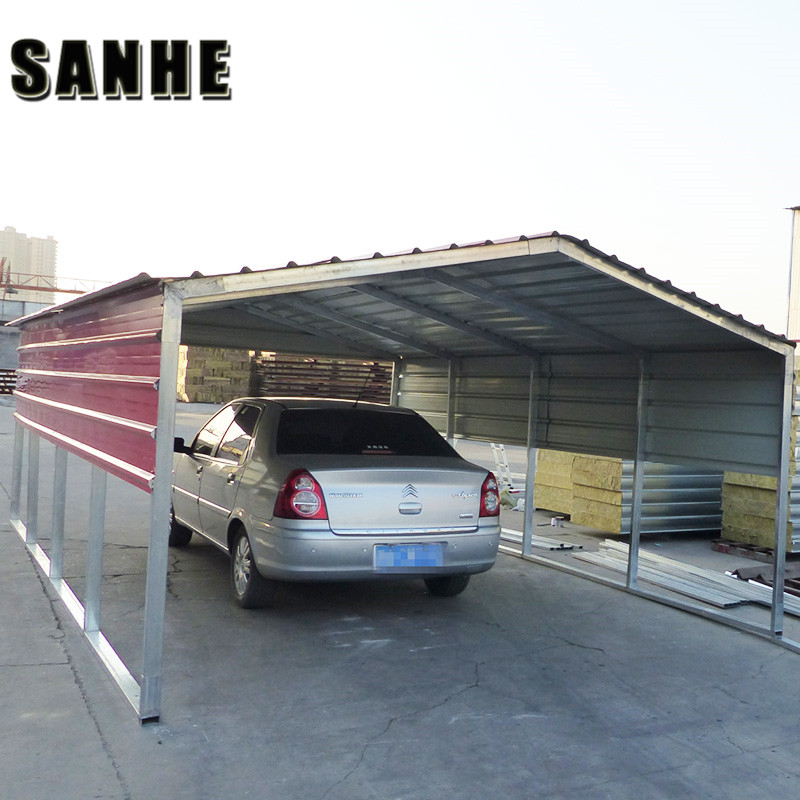 Regular style portable metal carports and carport with roofing sheet for onetwothree cars