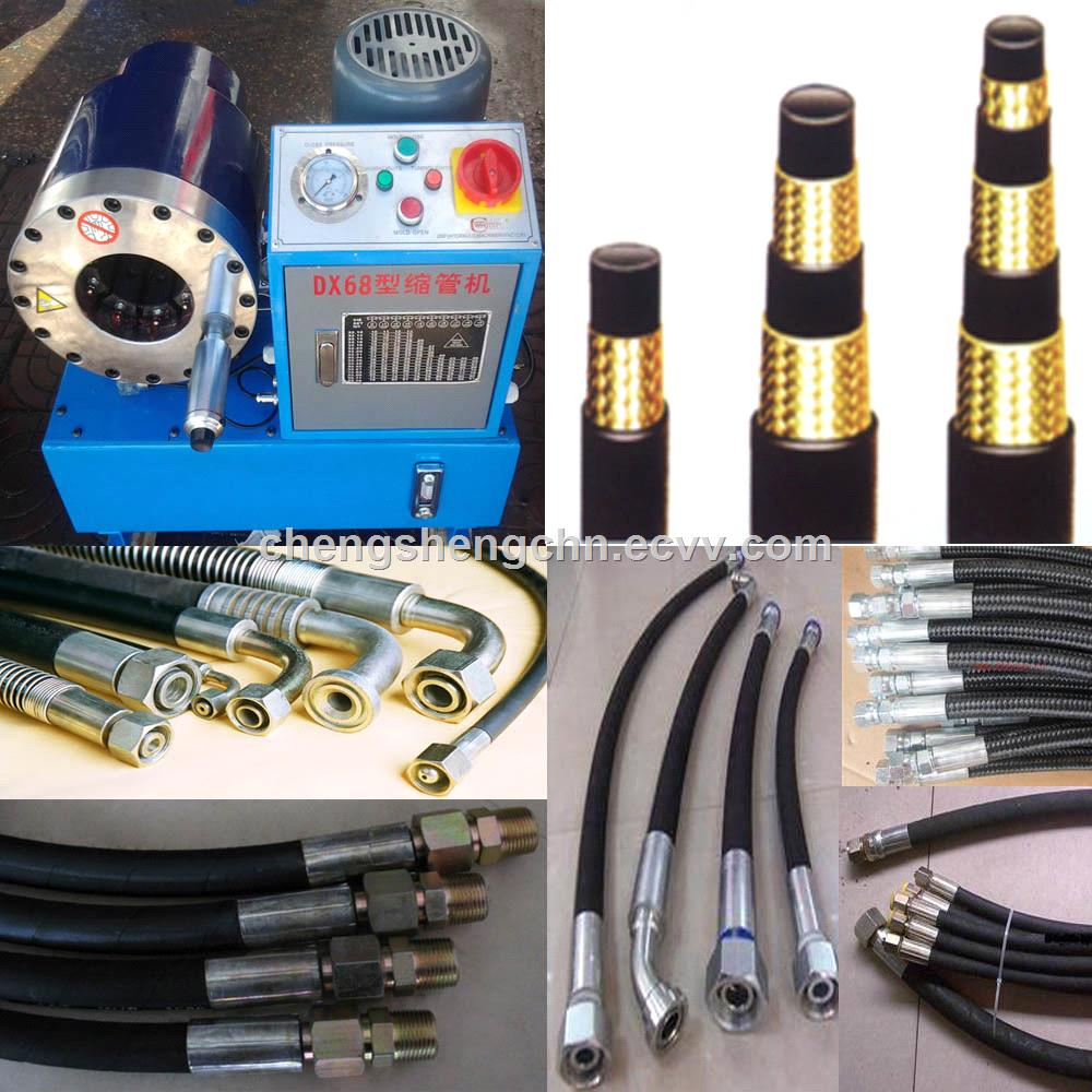 DX68 Hydraulic automatic Hose Crimping Machine Hose Tool Wire rope compressing machine