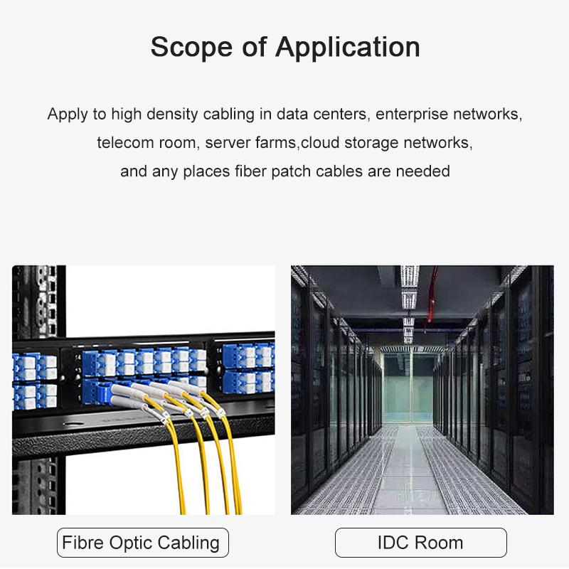 SCFC 2 Core Single Mode Fiber Optic Patch Cable