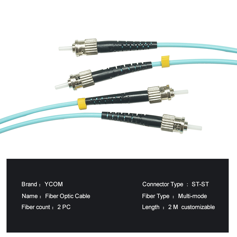 StSt MultiMode OM3 Fiber Optic Patch Cable