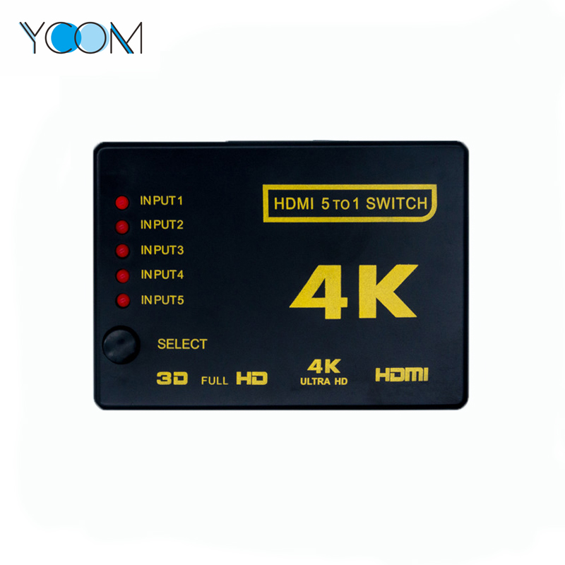 HDMI Switch 5 in 1 out Support 3D 4K 1080P