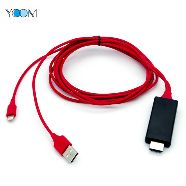Lightning Charging IOSUSB to HDMI Cable