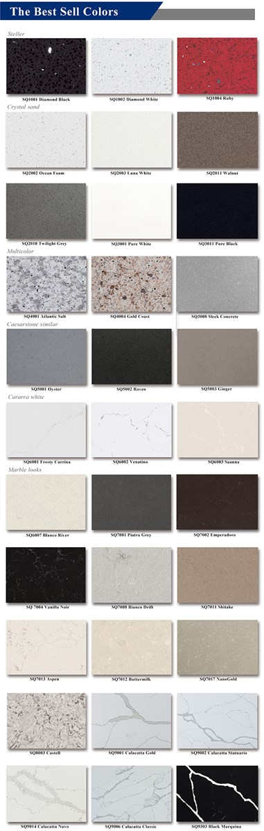 Misty Carrara White Building Material Polished Surface Granite Marble Series Quartz Stone Slabs for Kitchen Bathroom