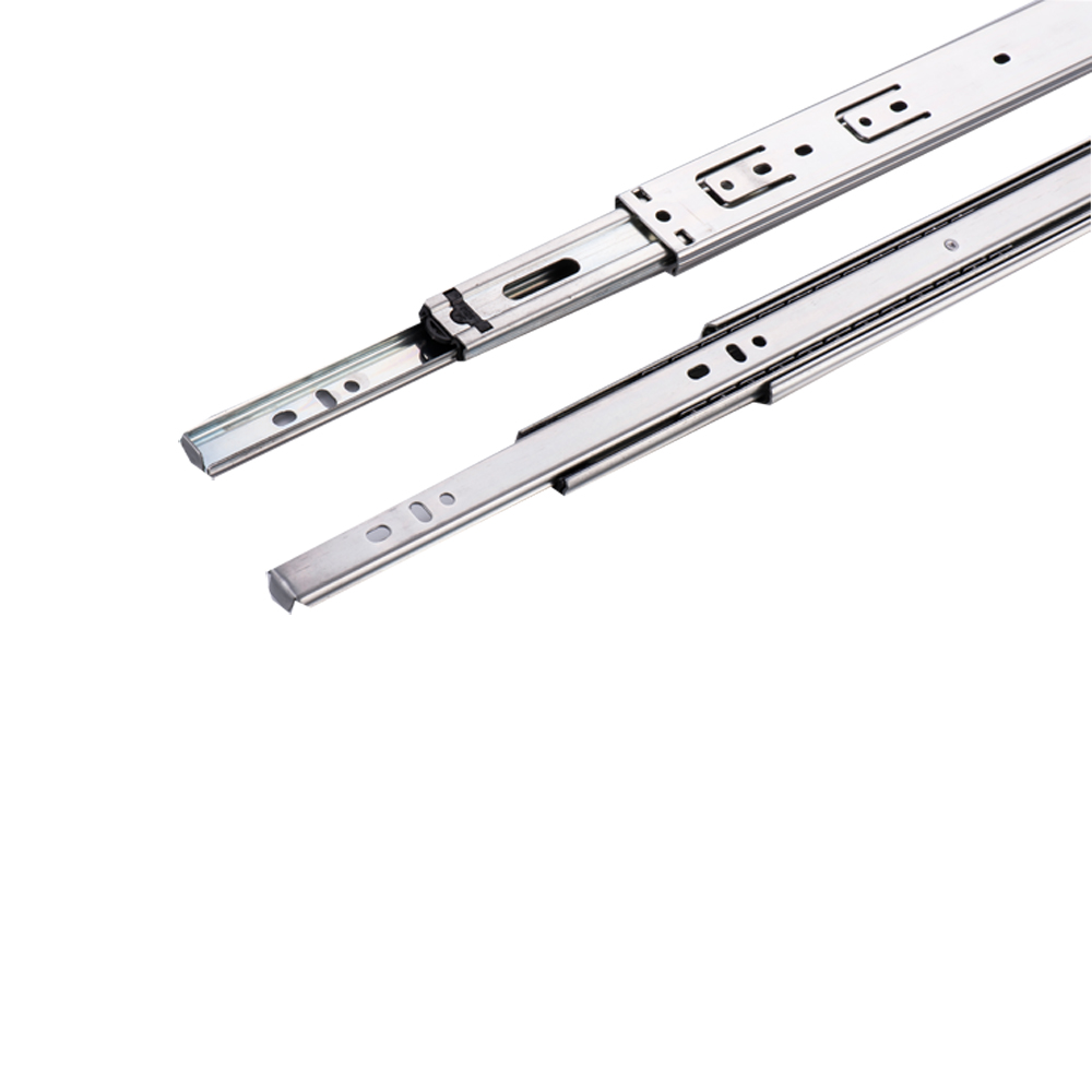 Top Quality 35mm 3 Fold Furniture Telescopic Drawer Slide Exporter