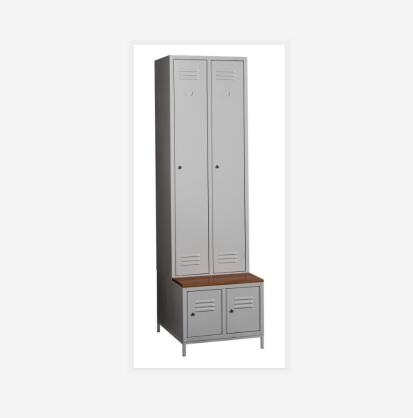 Clorina Furniture Steel Two Door Locker with Shoe Cabinet