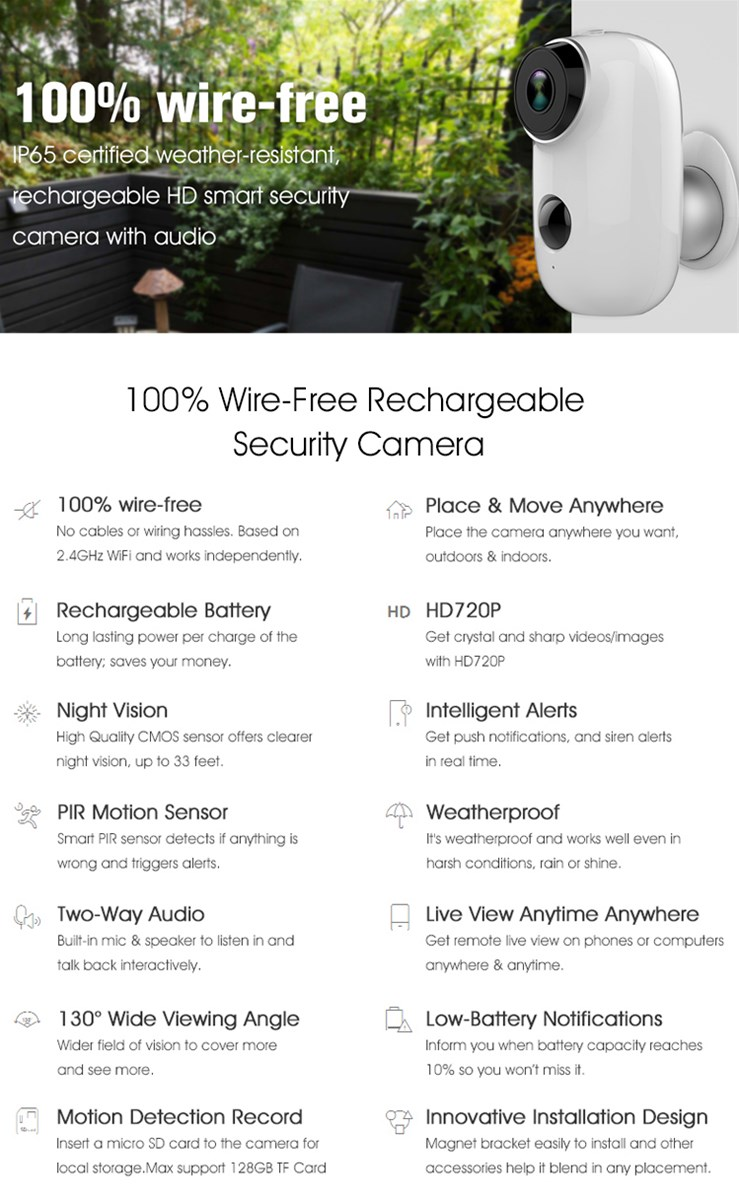REHENT WiFi Security Monitoring equipment IP Camera wifi intelligent 2 way audio video camera HD 1080P