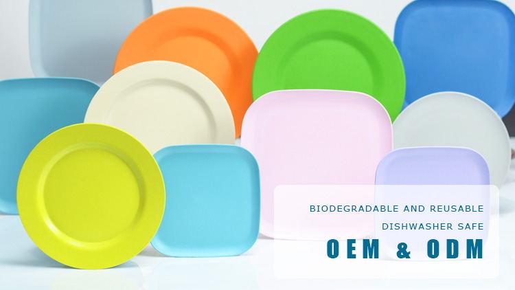 new design plate bamboo fiber plate dinner plate