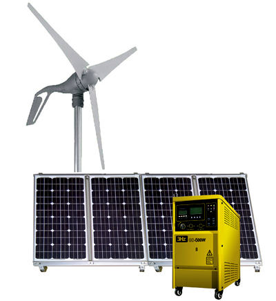 12KW hybrid solar wind power generation system