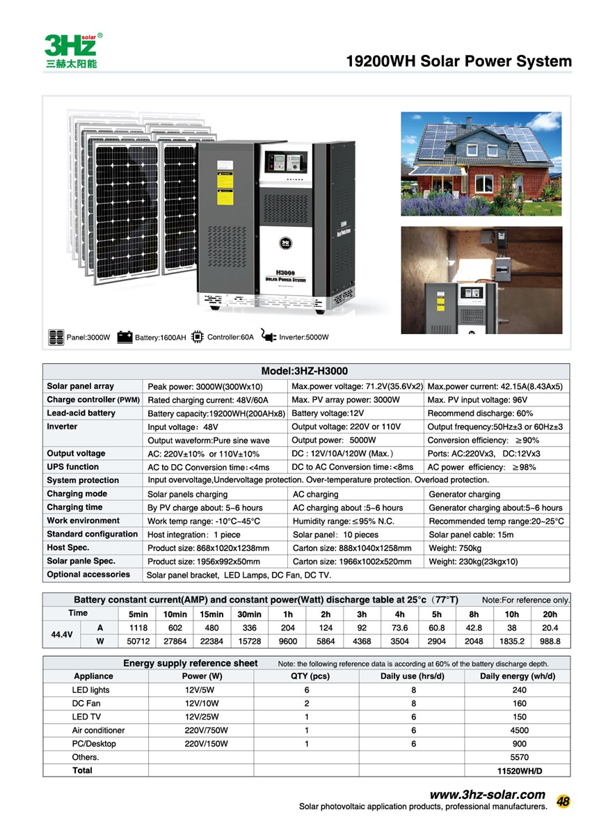 3KW Home Offgrid Solar Power System