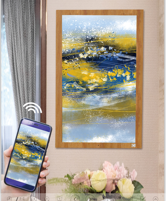 KODAK 173 inch Digital WiFi Photo Frame Digital Picture Frame Cloud Frame with IPS Touch Screen and 10GB Cloud Storage