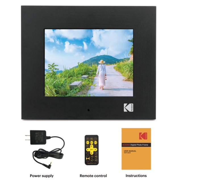 KODAK 8in Digital Photo Frame Digital Picture Frame Electronic Photo Album with Remote Control 1080P IPS LCD Screen