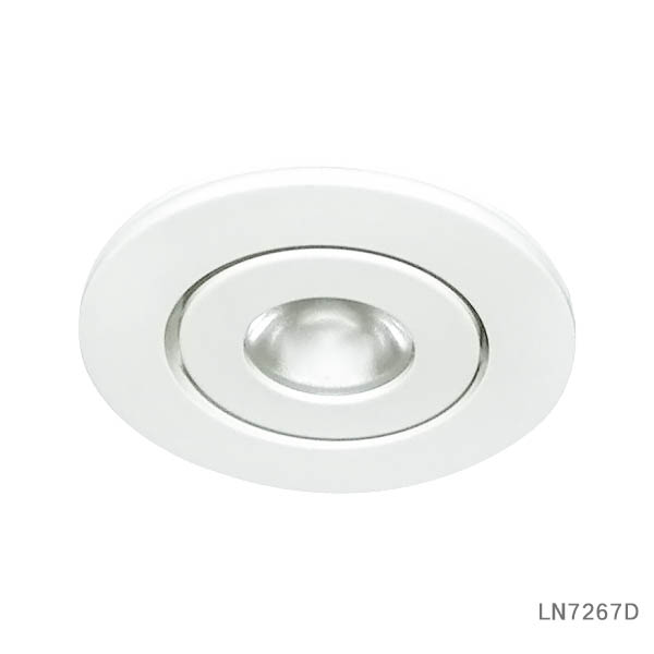 Movable light head 3W recessed led cabinet light LN726X